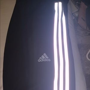 Adidas trackpant size small black and silver